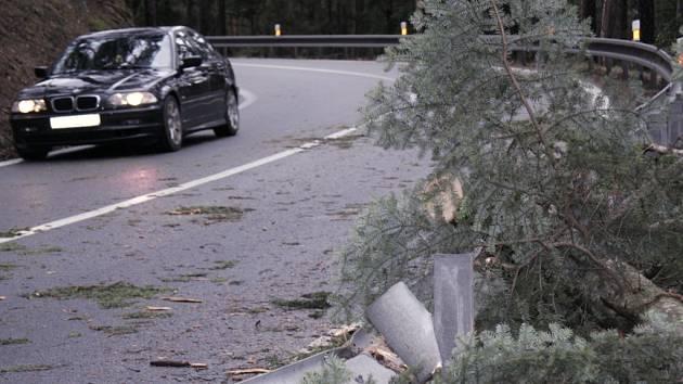 Silně udeřila vichřice a bouřka v sobotu v Nové Peci. Hasiči odstraňovali spadlé stromy, čerpali vodu ze sklepů a monitorovali řeku. Pomáhali tu i volarští policisté