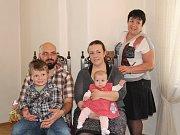 Barbora Pešelová s rodinou.