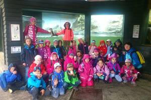 Žáci z Vodňanky na výletě v Zoo Ohrada v Hluboké nad Vltavou.