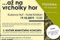 Pozvánka na benefiční koncert v Kubově Huti.