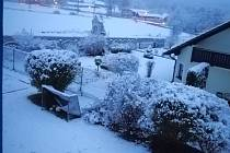 Blažejovice zasypal sníh.