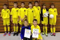 Okresní fotbalový výběr U12 byl druhý.