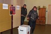Prezidentské volby v prachatickém volebním okrsku 9.