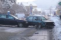 Úterní nehoda v prachatické Vodňanské ulici.