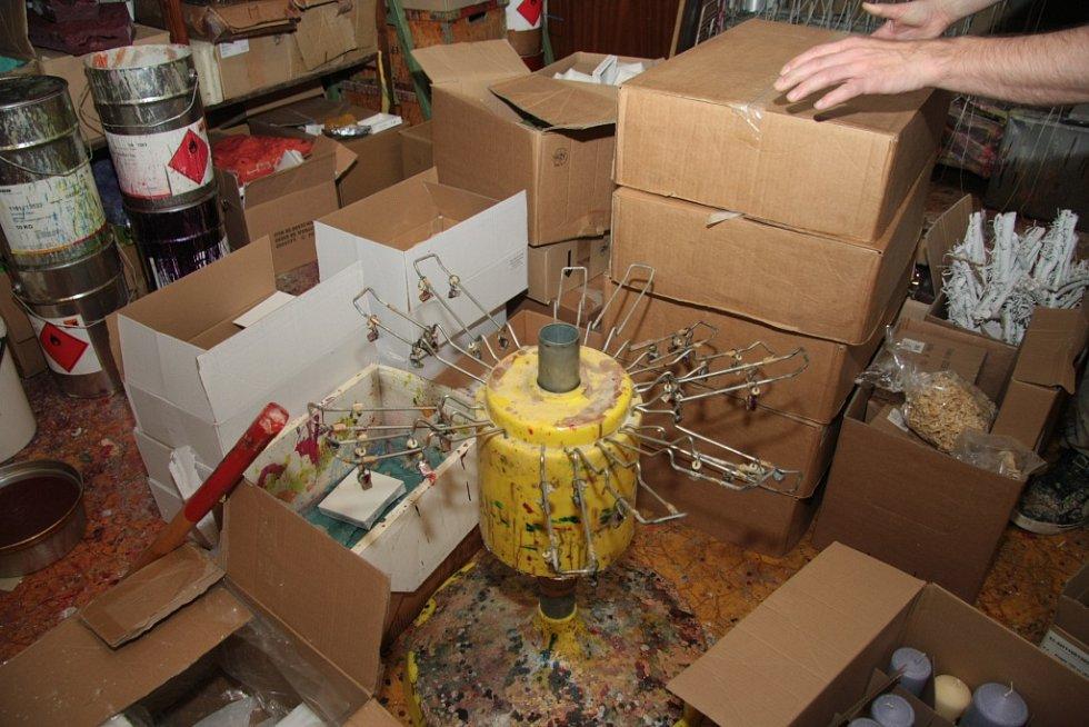 Výroba svíček v prachatické rodinné firmě Staňkových.Výroba svíček v prachatické rodinné firmě Staňkových.