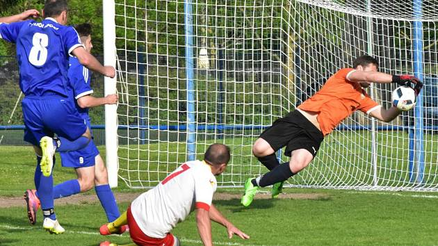 Fotbalová I.A třída: Junior Strakonice - Šumavan Vimperk 2:2.