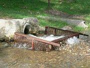 Přírodní nádrž, která sloužila jako požární, ale hlavně ke koupání v létě a bruslení v zimě, měla napájení z Feferského potoka.