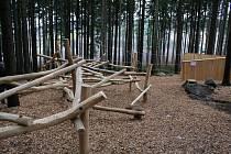 Další část Areálu lesních her v lese na Lázních sv. Markéty otevřeli Prachaticích.
