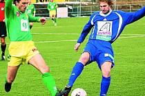 Fotbalisté Prachatic prohráli na hřišti Vltavínu Praha 1:0 a jsou třetí v tabulce.