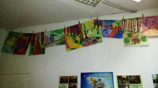 Vyhlášení výsledků výtvarné soutěže v Městské knihovně v Prachaticích.