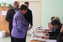 Prachatická volební místnost Pod Hradbami.