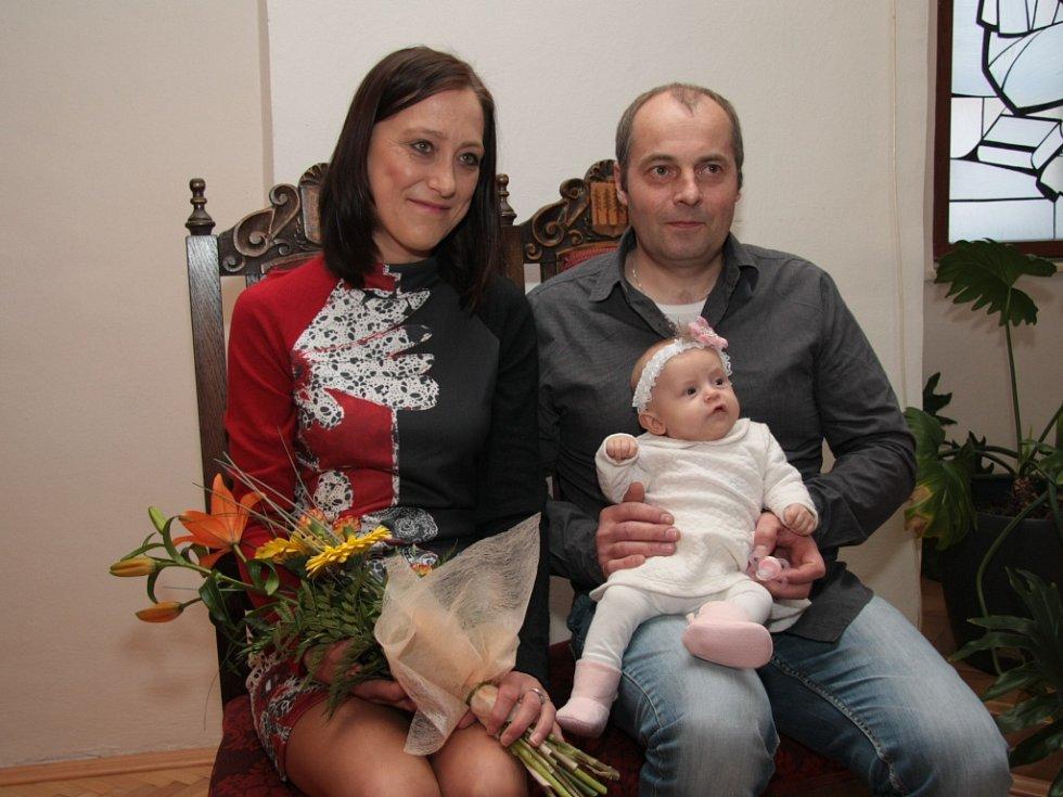 Mezi nově přivítanými občánky Prachatic byla ve čtvrtek také Kristýna Grillingerová.