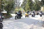 Prachatičtí motorkáři zahájili sezonu výjezdem z Dolní brány.