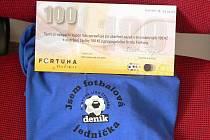 Vítěz kola získává triko a poukaz na 100 korun do Fortuny.