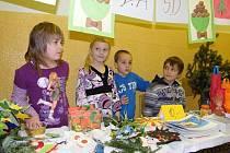 Děti ze ZŠ Vodňanská pořádaly Vánoční trhy.