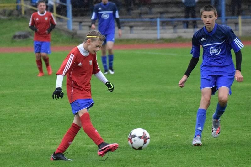 Denis Košnař je velkou nadějí vimperského fotbalu.