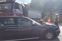 K dopravní nehodě došlo v ulici Vodňanská v Prachaticích.