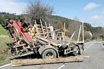 Dopravní nehoda před obcí Zlešice.