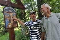 Nová křížová cesta ke Stožecké kapli.