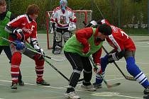Hokejbalisté bojovali o postupy.