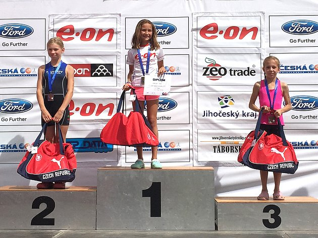 Třetí místo obsadila na triatlonovém šampionátu v Táboře.