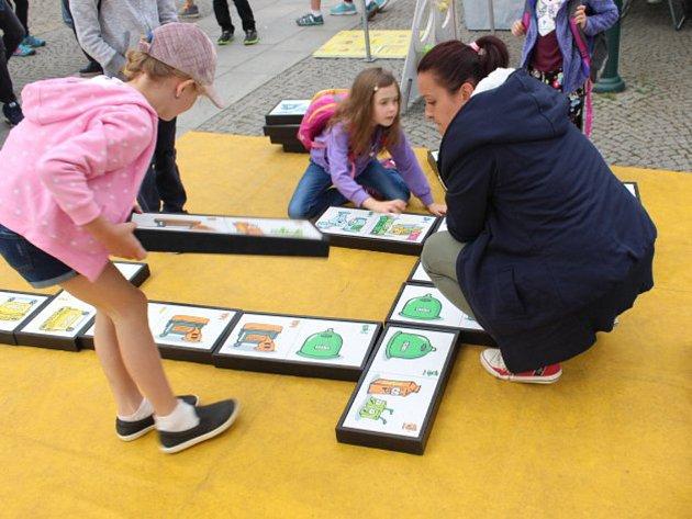 Děti si vyzkoušely spoustu zábavných her a dovedností