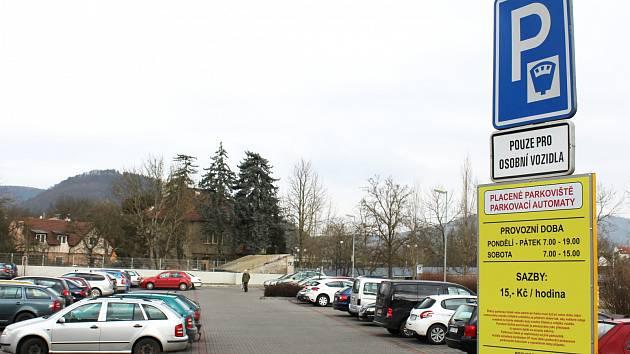 Parkoviště Boškův statek v Berouně.