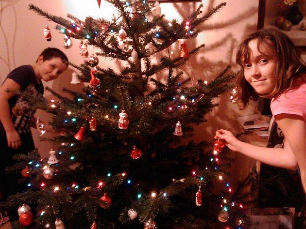 Zdobení vánočního stromu