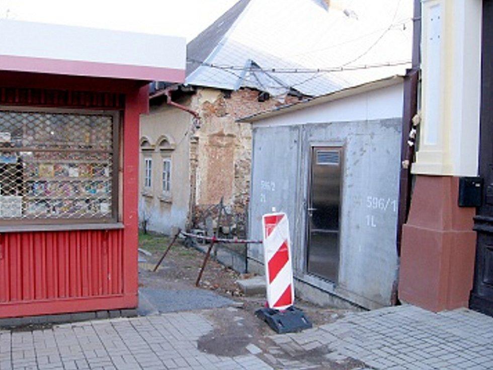 Budoucí veřejné toalety Hořovice - rok 2013