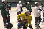 Berounští hokejisté poprvé vyjeli na led