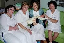 Letošním prvním narozeným miminkem v hořovické nemocnici je Viktorka