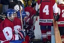 Z utkání hokejového meziokresního přeboru MOP HC Důl Kladno - Žebrák (6:5).