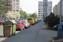 Parkováni ve Višňovce.