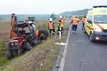 Dopravní nehoda u Chlustiny