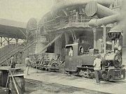 Králodvorské železárny v roce 1911. Železniční vlečka.