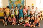 Děti v Mateřské škole v Hostomicích: třída Modrásci.