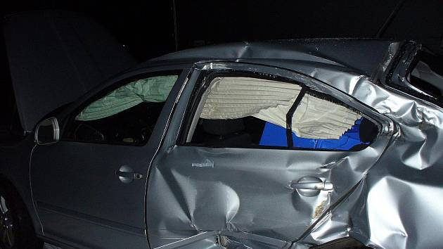 Na D5 se srazilo několik aut