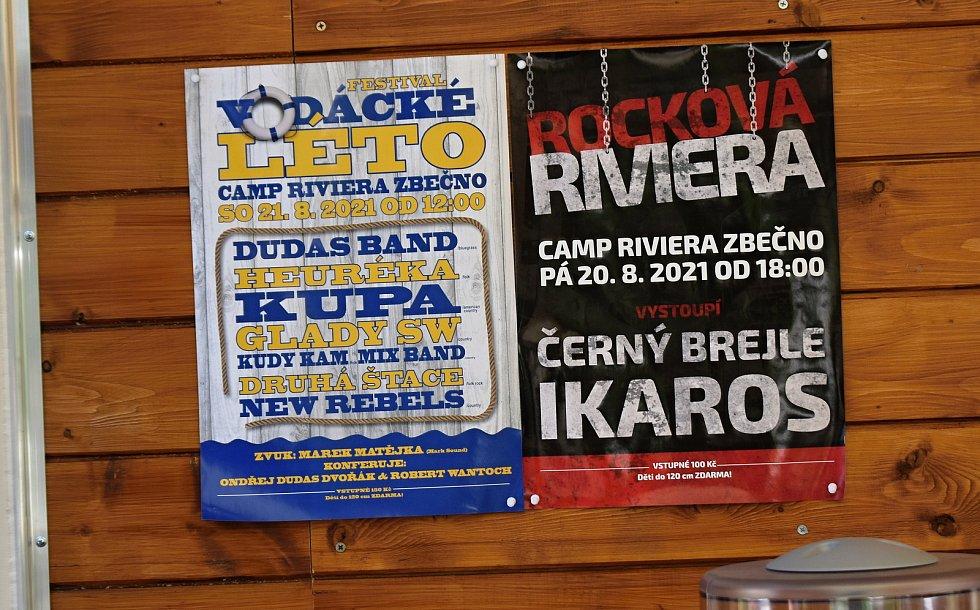 Nový kemp Riviéra ve Zbečně.