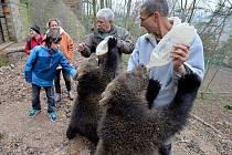 Medvíďata Agátu a Martina přivítali na Točníku