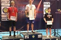 Plavec Loko Beroun David Ludvík se stal mistrem republiky (uprostřed).