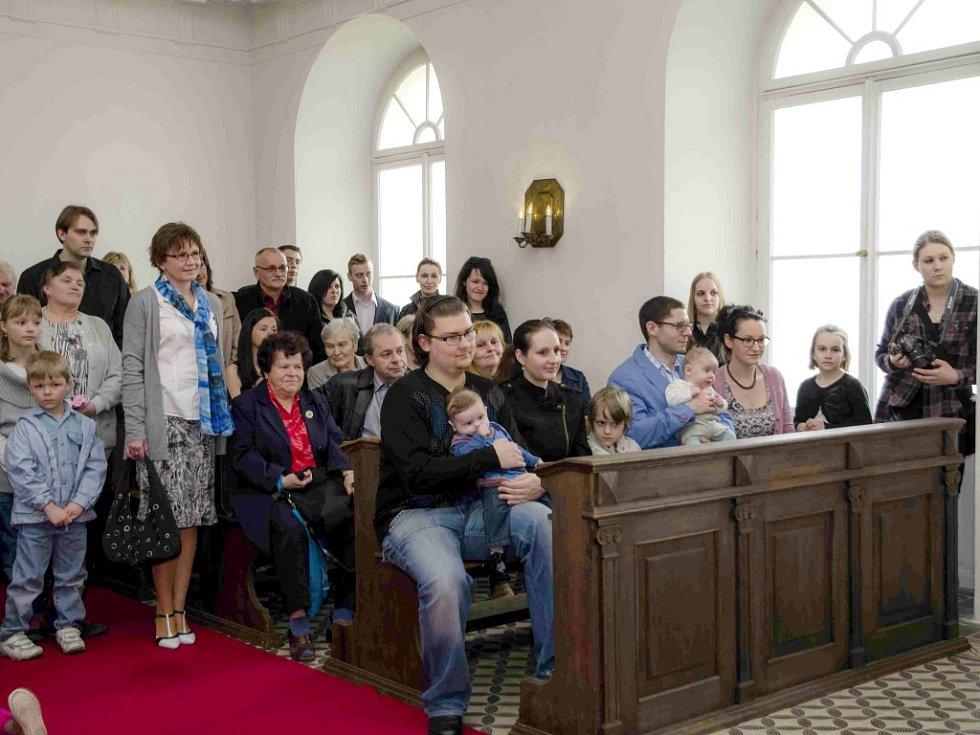 Vítání občánků na zámku Hořovice