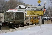 Ulice Berounská v ruském městě Sergiejev posad, bývalém Zagorsku