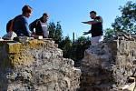 Začala oprava hradební bašty v Berouně.