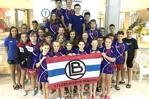 Úspěšná výprava Lokomotivy Beroun na plaveckých závodech v Mladé Boleslavi.