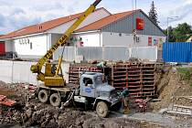 Stavba protipovodňového opatření v Hořovicích