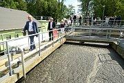 V Žebráku slavnostně otevřeli zrekonstruovanou čistírnu odpadních vod.