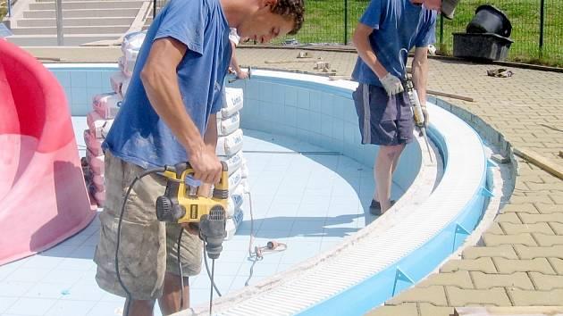 Oprava hořovických bazénů