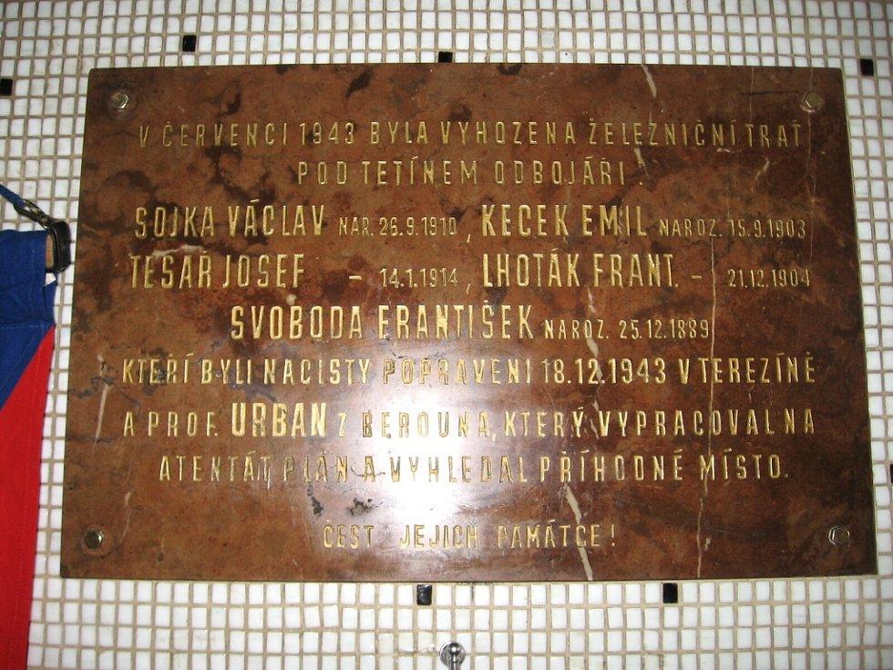 Berounští připomněli výbuch na trati i odvahu odbojářů.