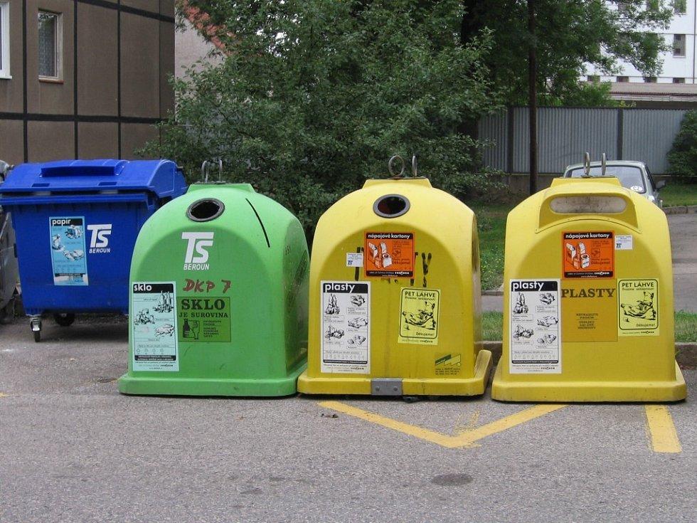 Lidé v Tovární ulici v Berouně mají k dispozici další kontejner na plasty.