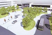 Vizualizace nového autobusového nádraží v Berouně